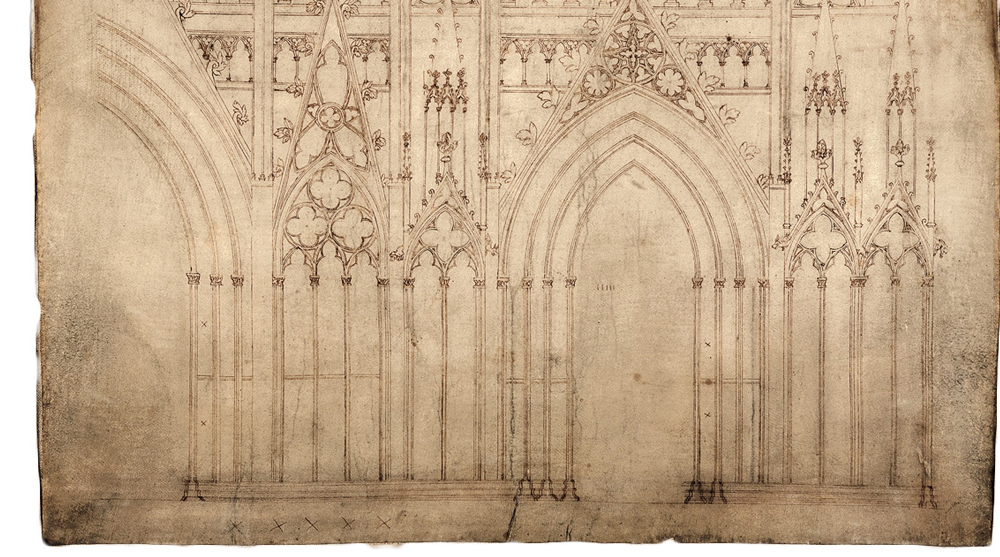 Medieval Architecture Drawings Were Limited In The Amount Of Information They Would Communicate Image Source